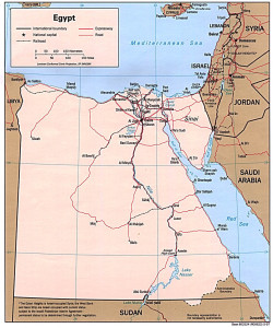 Map of Egypt. Source: University of Texas.