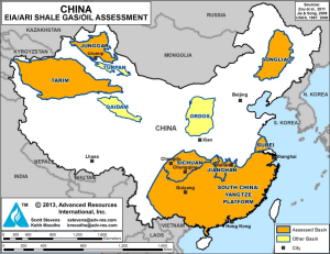 China's Seven Best Shale Gas and Shale Oil Basins. Source: EIA/ARI World Shale Gas and Shale Oil Resource Assessment, June 10 2013.