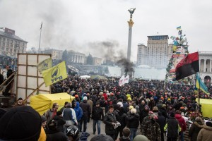 Anti-government protest in Kiev, Ukraine - 20 Feb 2014