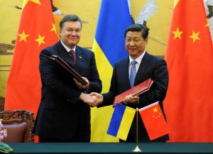 Viktor Yanukovych, Xi Jinping.